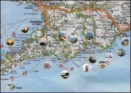 Costiera Amalfitana Cartina Stradale.Strada Statale 163 Amalfitana